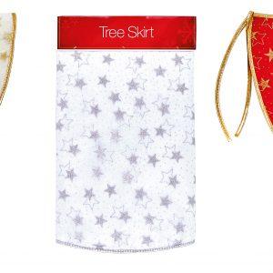 Glitter Star Tree Skirt