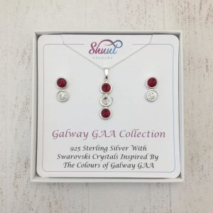 Galway GAA Pendant & Earrings Gift Set