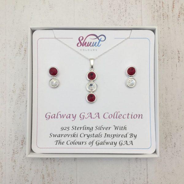 Galway GAA Pendant & Earrings Gift Set