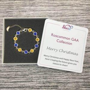 Roscommon GAA Christmas Gift - Sterling Silver Bracelet