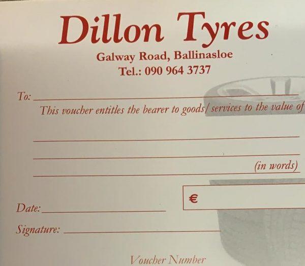 Dillon Tyres voucher