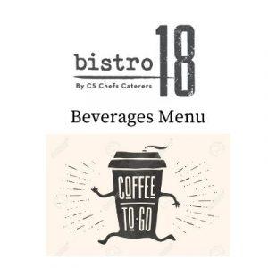 Beverages Menu Bistro 18
