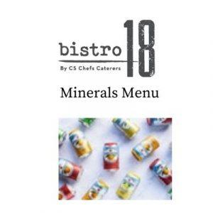 Minerals Menu Bistro 18 ballinasloe