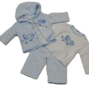 Teddys aeroplane three piece suit